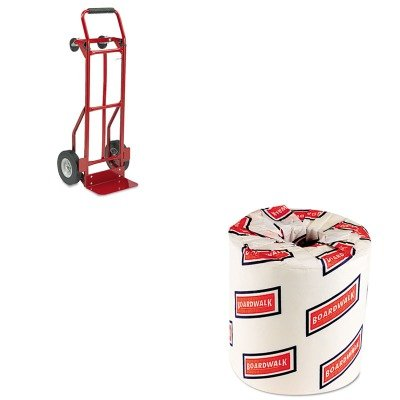 KITBWK6180SAF4086R - Value Kit - Safco Two-Way Convertible Hand Truck (SAF4086R) and White 2-Ply Toilet Tissue, 4.5quot; x 3quot; Sheet Size (BWK6180) (Hand Convertible Truck Two Way)