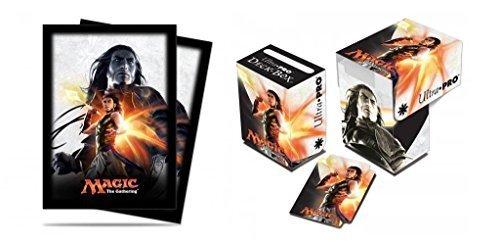 BUNDLE: Magic: the Gathering - MTG Magic Origins Planeswalker Gideon Jura (Deck Box & 80 Sleeves)