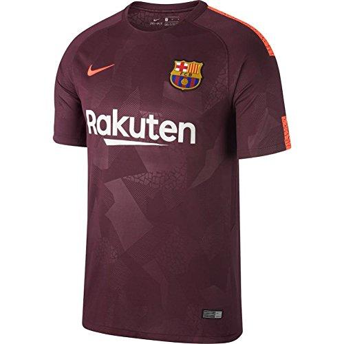 Nike Mens Fc Barcelona 2018 Breathe Third Soccer Jersey  Medium  Night Maroon