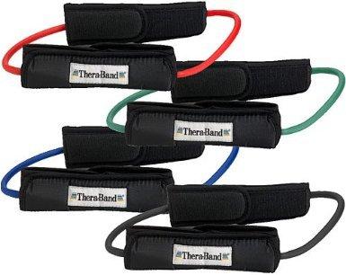Thera-Band Tubing Loop w/Cuff, Color: Green
