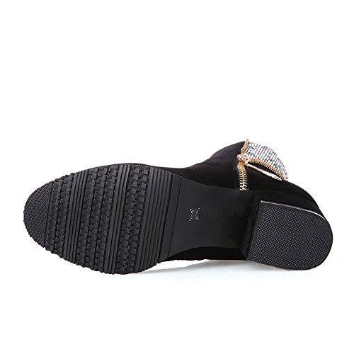 Glidelås Kvinners Adeesu Boots Frostet Glass Chunky Diamond Black Hæler zqqnZwBH