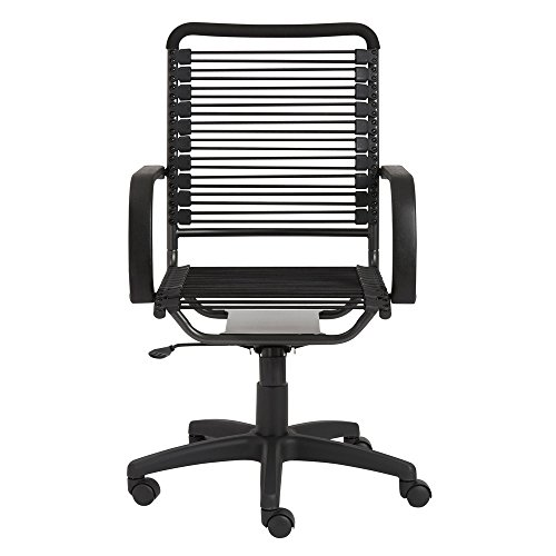 Bobbie High Back Adjustable Height and Swivel Office Chair - Black/Graphite Black