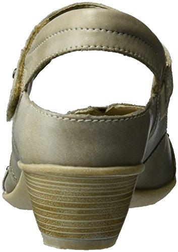 Donna Kiesel Beige Scarpe 60 Muschel D5002 Tacco T a col Cinturino con Whiteporzellan Remonte 87qFH