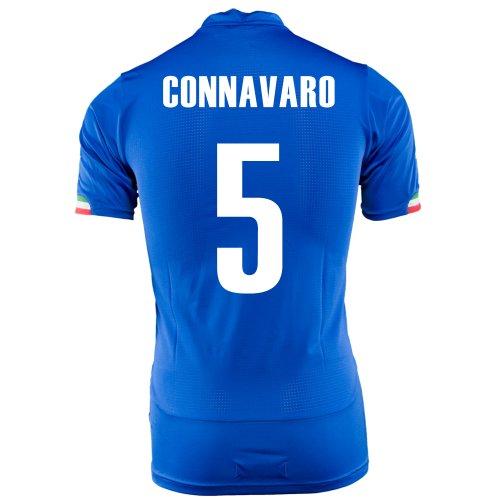 滑りやすい再生可能現代PUMA CONNAVARO #5 ITALY HOME JERSEY WORLD CUP 2014/サッカーユニフォーム イタリア ホーム用 ワールドカップ2014 背番号5 カンナヴァーロ