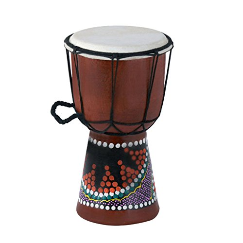 Djembe Drum Bongo (MagiDeal Solid Mahogany Djembe Bongo African Style Drum Novelty Hand Percussion 18 x 12.7cm)