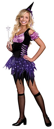 [UHC Girl's Switch Witch Jr Fancy Dress Funny Theme Party Teen Halloween Costume, JR L (11-13)] (Switch Witch Costume)