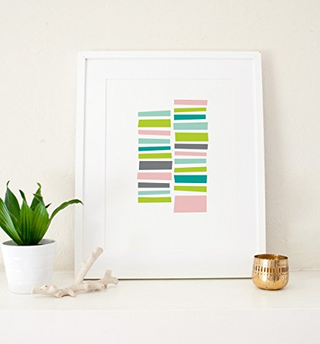 (Staccato Patterned Art Print)
