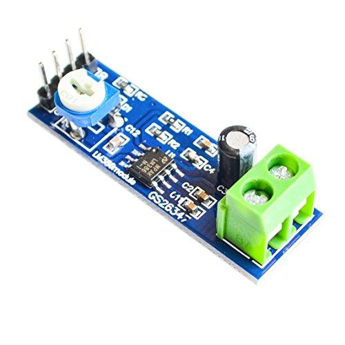UTP utl LM386 Audio Amplifier Module 200 Times 5V-12V Input 10K Adjustable Resistance