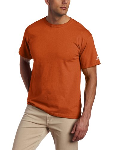 (Russell Athletic Men's Basic T-Shirt, Texas Orange, Medium)