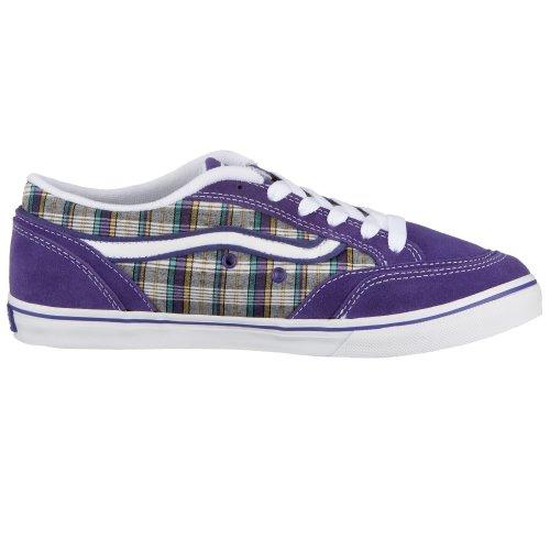 VANS W COPELY VF613DN, Damen Sneaker, blau, (plaid) purple )