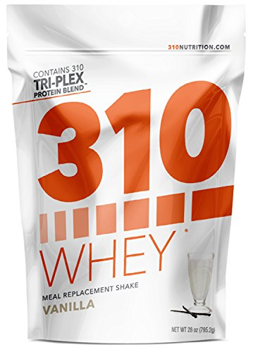 Vanilla Whey Meal Replacement | 310 Shake Whey Protein Powder is Gluten Free, Soy Protein Free and Sugar Free | Includes Free Recipe eBook | 28 Servings