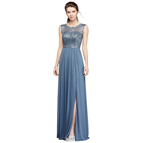 metallic blue bridesmaid dresses - 4