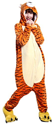 MizHome 3D Print Tiger Christmas Halloween Carnival Fancy Dress Costume S -