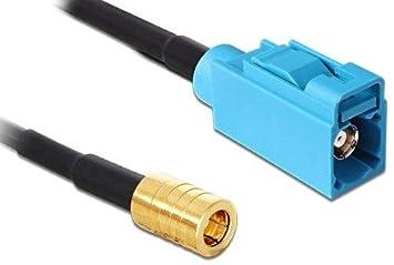DeLOCK 88653 5m SMB FAKRA Z Negro - Cable coaxial (SMB, FAKRA Z,