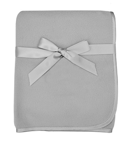 American Baby Company Fleece Blanket, Gray, 30 x 30, for Boys and Girls