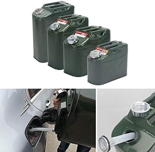 10L Grande capacit/é Conteneur /épaissie m/étal R/éservoir de Carburant Essence Bidon jerrican /à la Pipe Jadeshay Le Carburant Peut