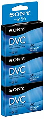Sony DVM60PRR/3 60-Minute DVC Tape Hang Tab by Sony