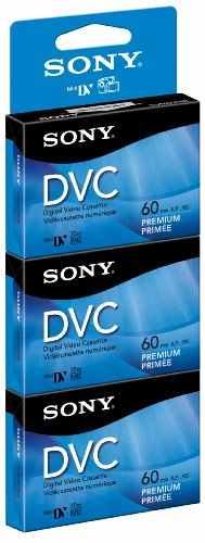 Sony DVM60PRR/3 magnetic tape cassette Video cassette 60 min 3 pieza(s) - Cinta de audio/video (60 min, 3 pieza(s))