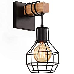 Farmhouse Wall Sconces Lightess Black Wall Sconces with Dimmer ON/Off Switch, Vintage Cage Wall Mount Light Fixture Industrial Farmhouse… farmhouse wall sconces