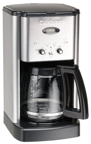 Cuisinart DCC-1200FR Brew Central 12-Cup Coffeemaker, Brushed Stainless Steel (Renewed) (One Cup Filter Coffee Maker)