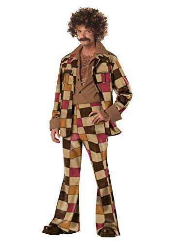 California Costumes Men's Disco Sleaze Ball Costume,Brown,X-Large