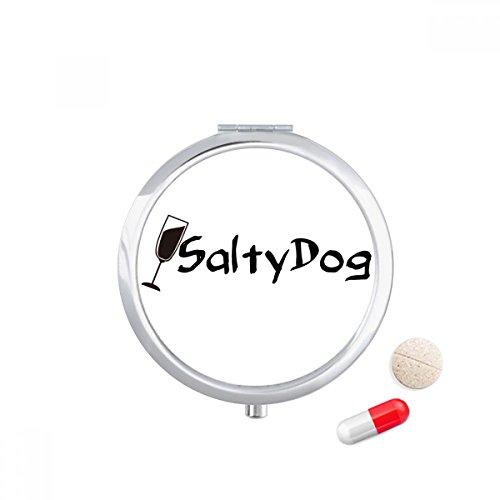 Salty Dog Salt Cocktail With Its Cup Travel Pocket Pill case Medicine Drug Storage Box Dispenser Mirror Gift]()