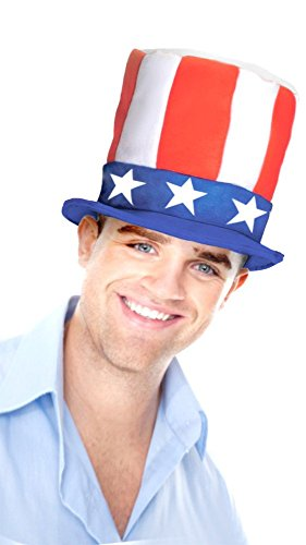 Uncle Sam Hat - Stars & Stripes Stove Pipe Design - Keeps Shape - Celebrate USA (Dog Stove)