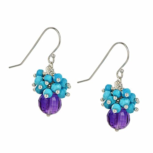 Sterling Silver Turquoise Cluster Ametrine Dangle ()