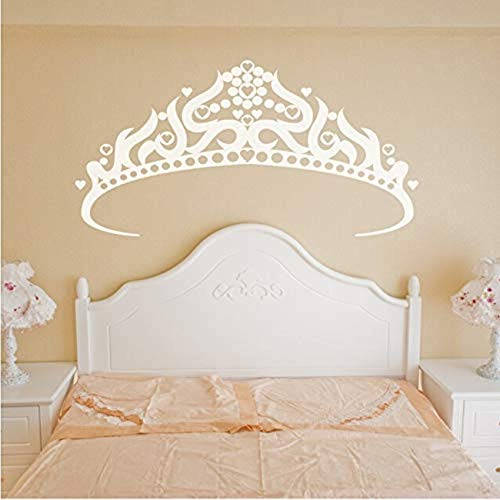 FSDS Wall Vinyl Decal Big Crown Pattern Paste Sticker Kid's Bedroom Decorate Decal Princess Baby Girls Gifts Art Decor Mural