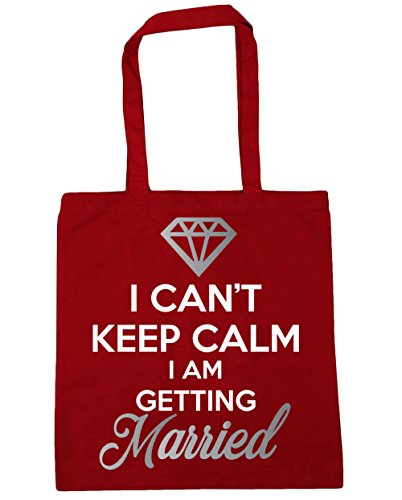 I Gym 42cm Bag Red getting married Beach 10 Shopping Tote HippoWarehouse can't litres x38cm calm keep I am Classic 4pvIBxq