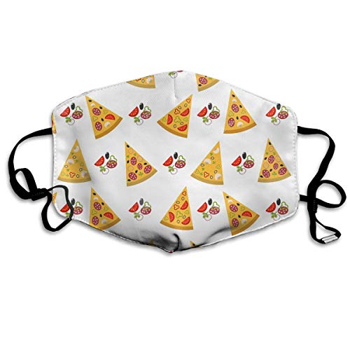 YUANSHAN Dust Mask Fruits Slices Pizza Outdoor Mouth Mask Anti Dust Mouth Mask Man Woman