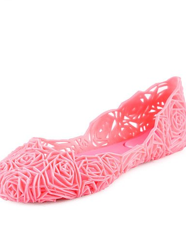 Outddor Lila cn36 PVC Mahagoni Ballerinas Silber us6 Damenschuhe Absatz blue eu36 Rosa uk4 Burgund uk4 Gelee Gold Koralle us6 light blue light Flacher PDX eu36 cn36 8t4qwxE7