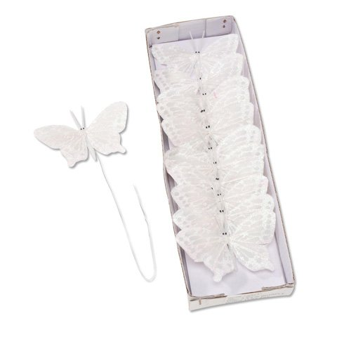 """2 3/4"""" Butterfly Butterflies with Iris 12 pieces Great for Wedding Cake"""