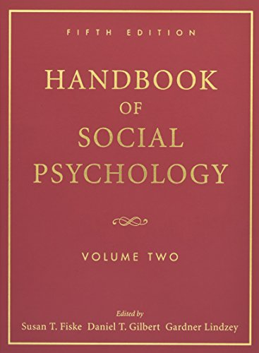 Handbook of Social Psychology: Volume Two
