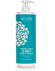 Acure - Damage Control 2-In-1 Shampoo And Conditioner Coconut Oil And Keratin (Damage Control, 2 Pack)