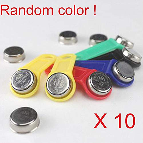 Ibutton Lock - FidgetFidget Electronic iButton DS1990A-F5 Key Card Tag for Locks (TM1990A) Serial Fob 10X