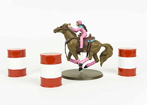 Fallon Taylor Barrel Racing Cowgirl Toy and Babyflo Rodeo Horse Figurine Set by Big Country Toys (Horse Racing Figurines)