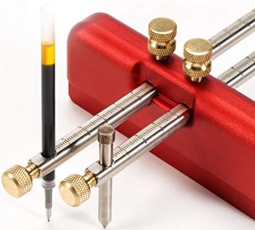 Aluminum Alloy Woodworking Marking Gauge Wood Scribe,Mortise Gauge DIY Woodworking Scribing Tool Red Dual Needles