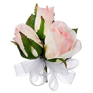 Pink Silk Rose Corsage - Wedding Corsage Prom 49