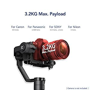 Zhiyun Crane 2 2017 Follow Focus 3-Axis Handheld Gimbal Stabilizer for DSLR Camera up to 7 Lb, 18 Hrs Run-time, OLED Display
