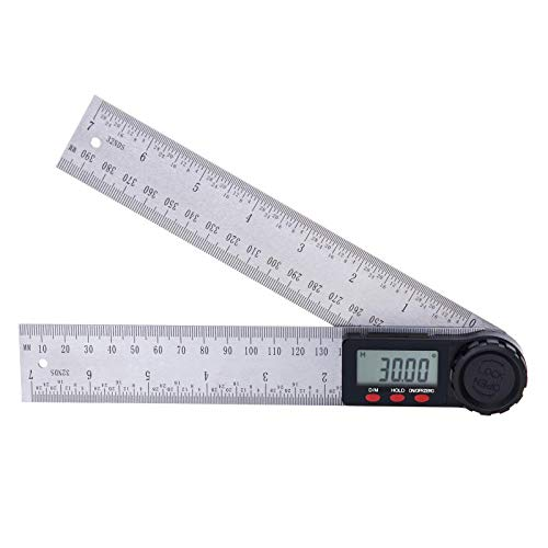 Suncala Digital Angle Finder Protractor with Zeroing and Locking Function, 7-Inch Stainless Steel Angle Finder Ruler (Measuring Angle Digital Device)