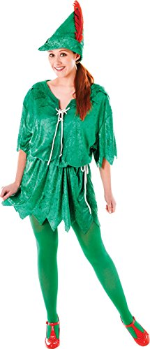 Bristol Novelty Adult Unisex Green Elf Costume Peter Pan Robin Hood Fancy Dress Christmas Outfit for $<!--$62.99-->