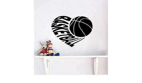 Diy amor baloncesto etiqueta de la pared decoración del ...