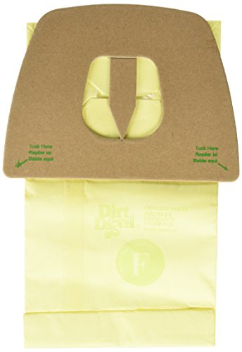 Dirt Devil Type F Microfresh Vacuum Bags (3-Pack) Plus Filter, 3300480001 (Type Replacement Devil Dirt)