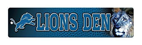 NFL Detroit Lions 16-Inch Plastic Street Sign Décor