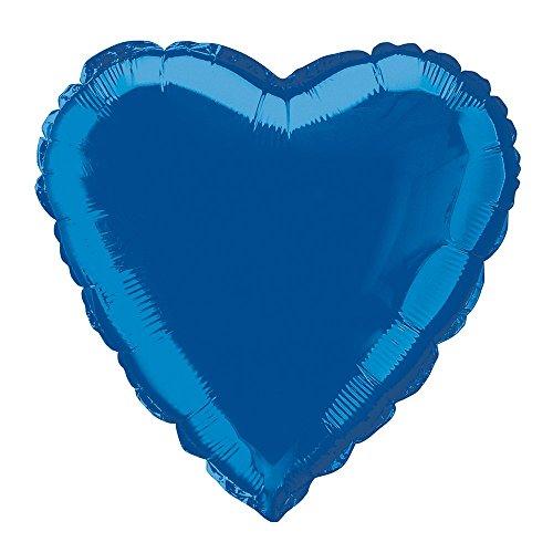 Foil Royal Blue Heart Balloon