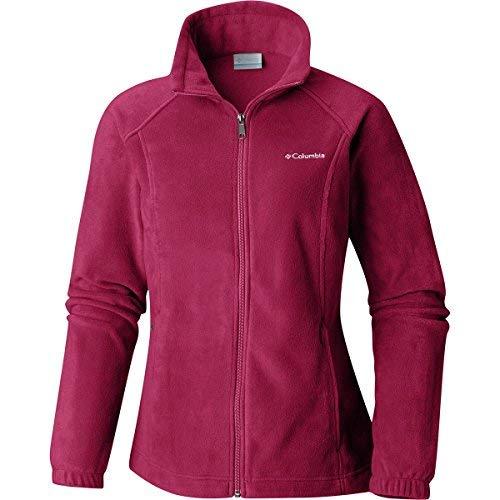 Womens Part Number - Columbia Women's Benton Springs Classic Fit Full Zip Soft Fleece Jacket, Pomegranate, Medium