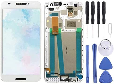 MTE AYSMG LCD Screen and Digitizer Full Assembly with Frame for Alcatel A3 5046 OT5046 5046D Black 5046X Color : White