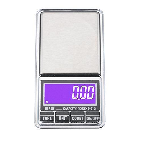 Leeko Digital Pocket Scale,Jewelry and Gems Weigh Scale,Weigh High Precision Portable LCD Digital Pocket Scale,USB Charging Jewelry Weight Balance Tool,500g/0.01g