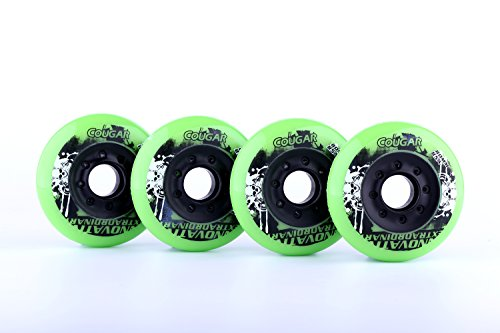 Read About 8-pack, Cougar Inline Skate/Rollerblade Wheels (Multiple Size and Color Options Available...